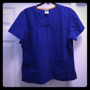 Scrub Star Blue Top with pockets